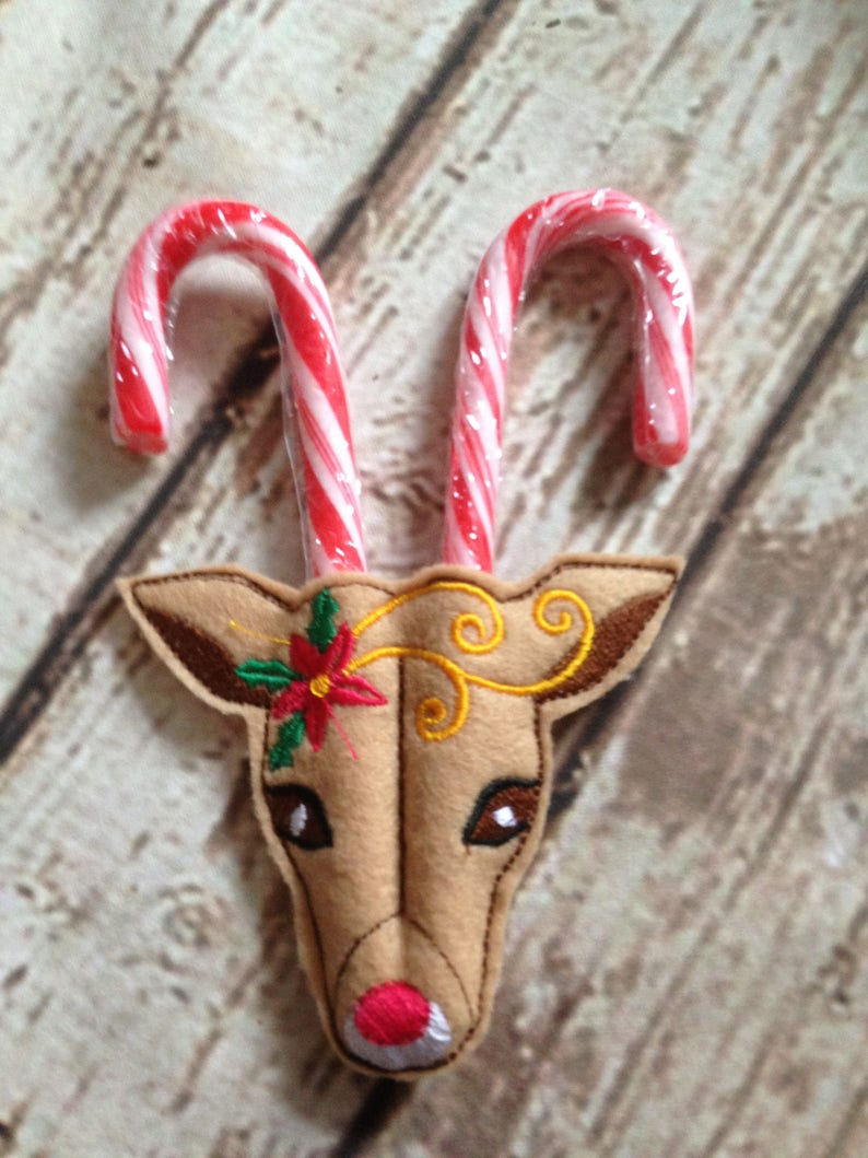 Candy Cane Reindeer Christmas Decoration Christmas ...