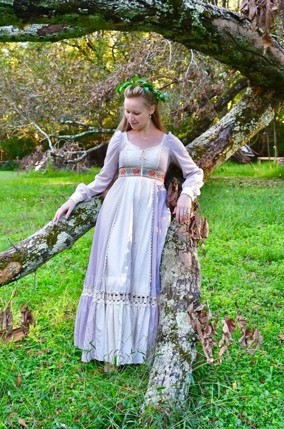 1970s Gunne Sax peasant dress, 70s vintage gingha… - image 4