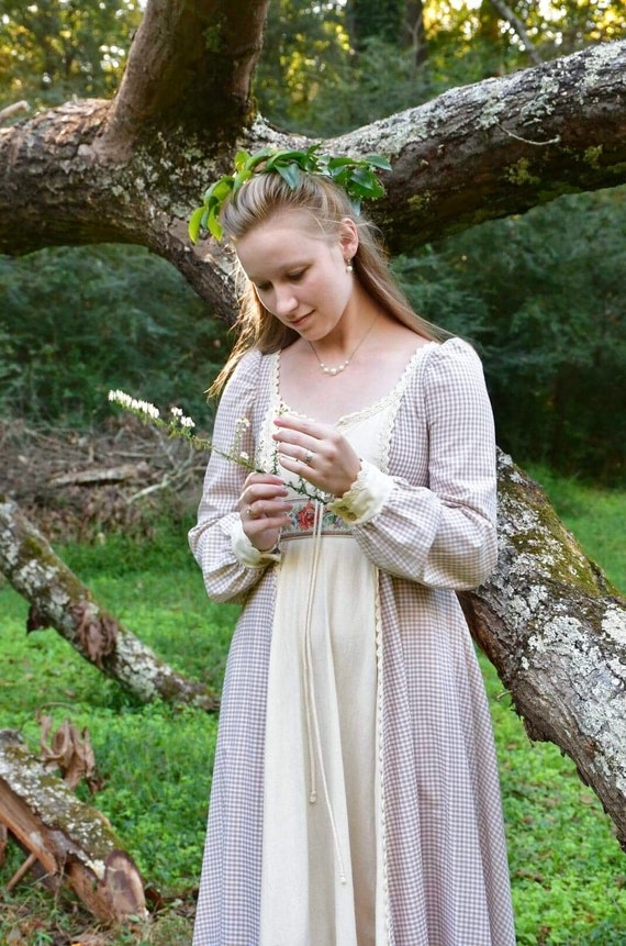 1970s Gunne Sax peasant dress, 70s vintage gingha… - image 5