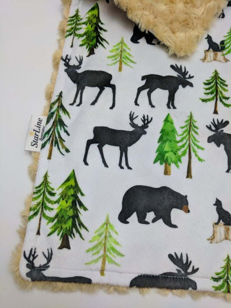 Forest Baby Lovey Minky Security Blanket Woodland Baby Shower Woodland Animals Lovey Forest Woodland Lovey Woodland Forest Nursery Gift