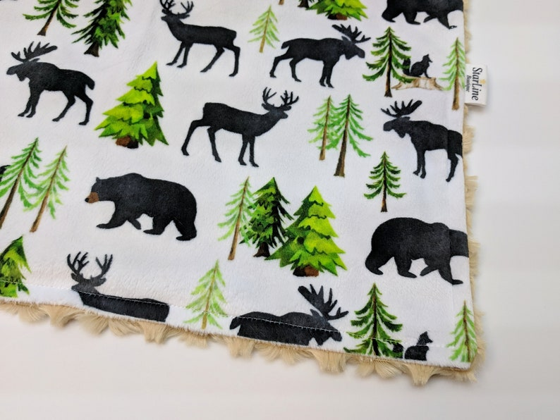 Forest Woodland Baby Blanket Baby or Adult Minky Blanket Woodland Baby Shower House Warming Gift Blanket Forest Gift Forest Minky Blanket