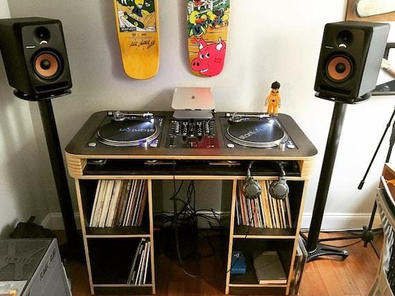 Bureau pour platine dj synq audio trm platine vinyle entrainement