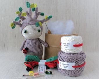 Sameko Design - LANTO the Sprout - DIY Crochet kit, amigurumi kit, Christmas Gift, Crochet Doll, Stuffed Animal, Crafter Gift