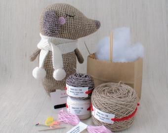 Sweet amigurumi design - TOM the Dachshund - DIY Crochet kit, amigurumi kit, Christmas Gift, Crochet Doll, Stuffed Animal,  Dog