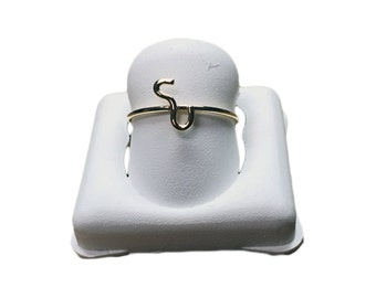 Yellow Gold Armenian Initial Stackable Ring