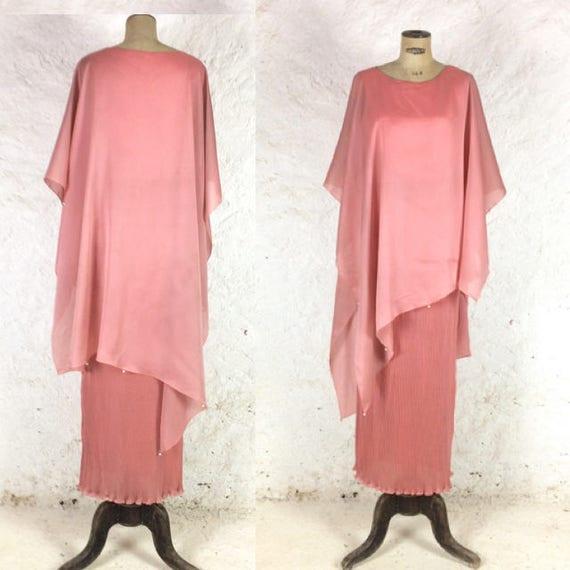 Oscar de la Renta Dusty Pink Ballgown