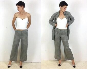 Sonia Rykiel Stylish Linen 1990s Power Suit