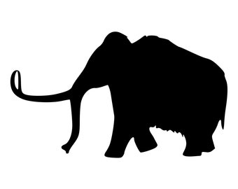 Detailed Wooly Mammoth Rubber Stamp Mounted Wood Block Art Stamp