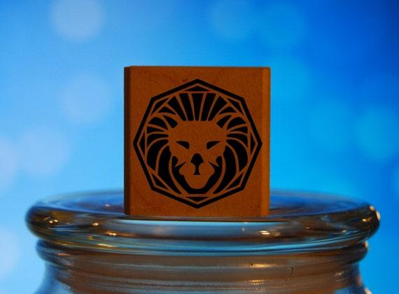 Astrology Virgo Zodiac Rubber Stamp Mounted Wood Block Art Stamp