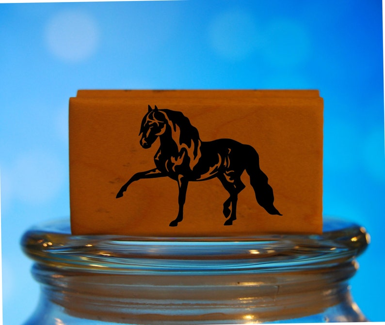 Andalusian Horse Rubber Stamp Mounted Wood Block Art Stamp