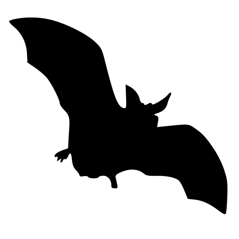 Spooky Bat Rubber Stamp Mounted Wood Block Art Stamp
