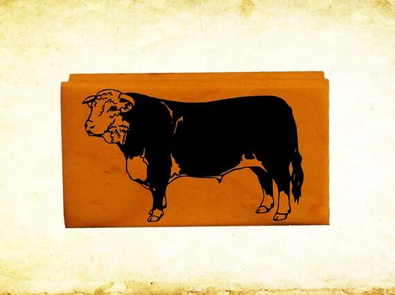 Bulldozer Rubber Stamp Mounted Wood Block Art Stamp
