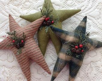 Exceptionnel Primitive Christmas Decor Stars