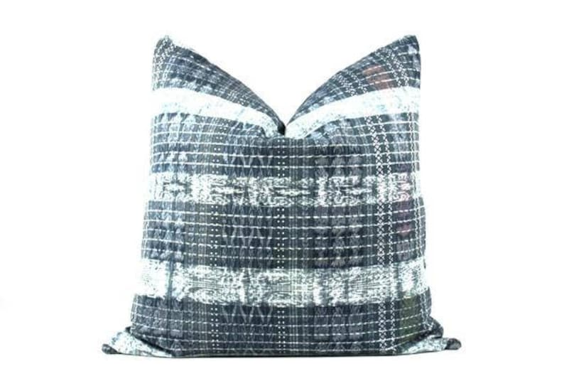 green ikat pillow Clover green Guatemalan pillow 22 x 22 green cortes pillow green boho pillow green Guatemalan pillow