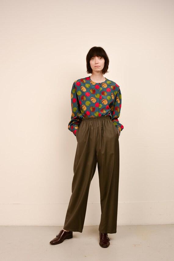 Vintage Olive ZORAN Wool Easy Pants  / XS