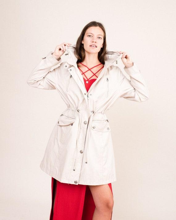 Vintage Stone Raincoat / S/M