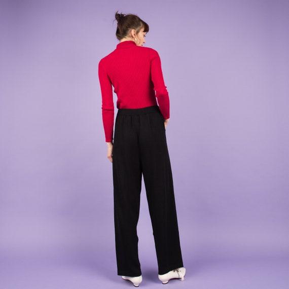Vintage Charcoal Knit Pants  / M/L - image 3