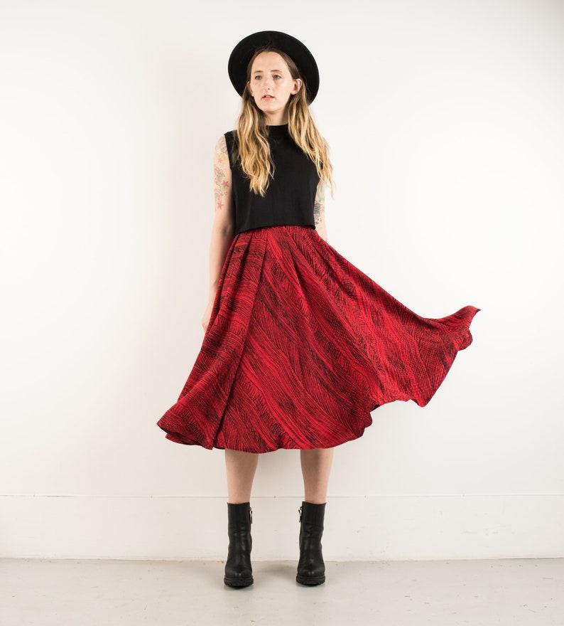 fa5f1dc39 VINTAGE ABSTRACT BRUSHSTROKE full skirt / S / 90s hipster | Etsy