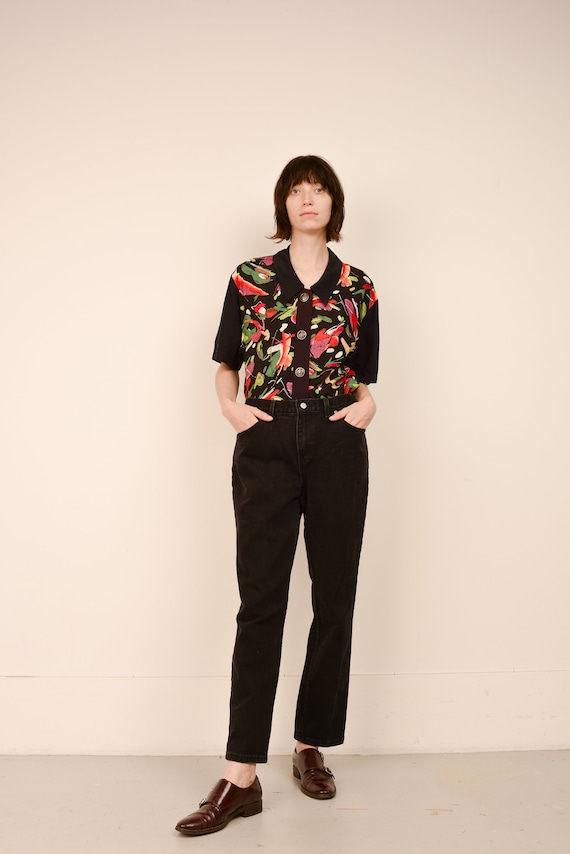 Vintage Black Relaxed FADED GLORY Denim Pants  / … - image 3