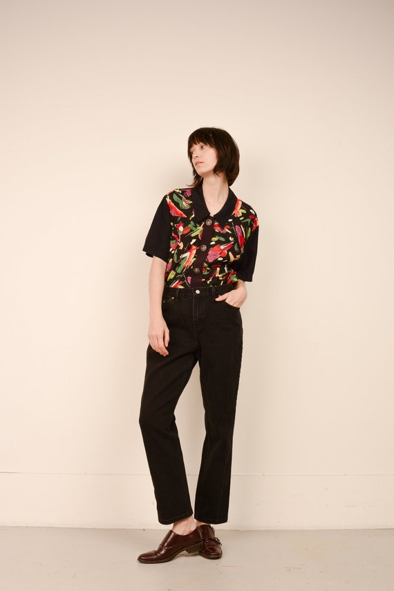 Vintage Black Relaxed FADED GLORY Denim Pants  / S