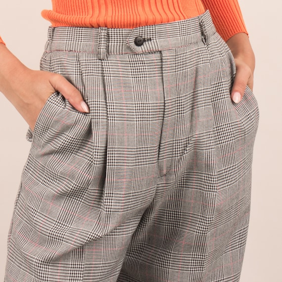 Vintage Black and White Checkered Pants / S - image 7