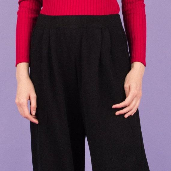 Vintage Charcoal Knit Pants  / M/L - image 6