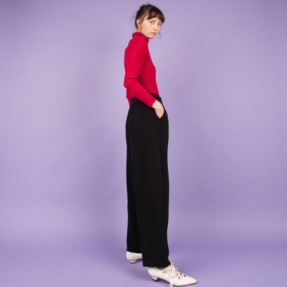 Vintage Charcoal Knit Pants  / M/L - image 5