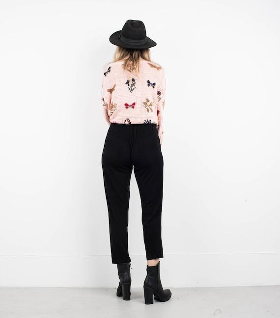 AMAZING Vintage Black Slinky Pants / S / pants fe… - image 7