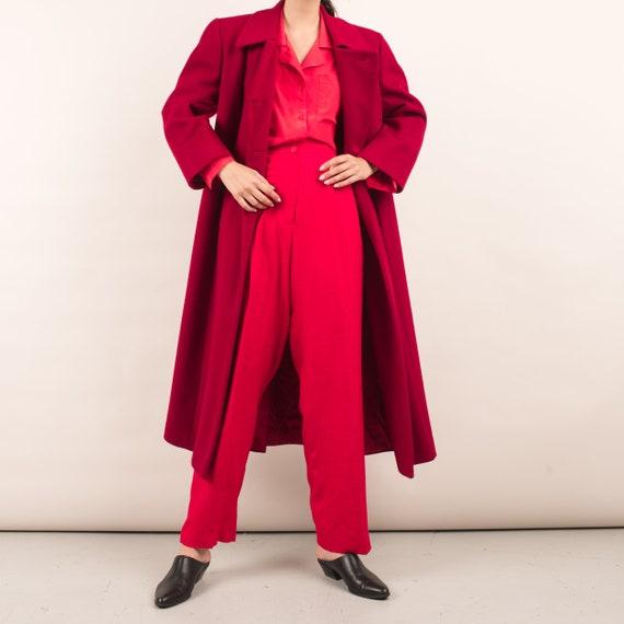 Vintage Red Swing Overcoat / S - image 4