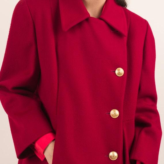 Vintage Red Swing Overcoat / S - image 7