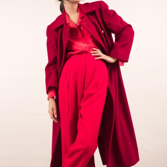 Vintage Red Swing Overcoat / S - image 2