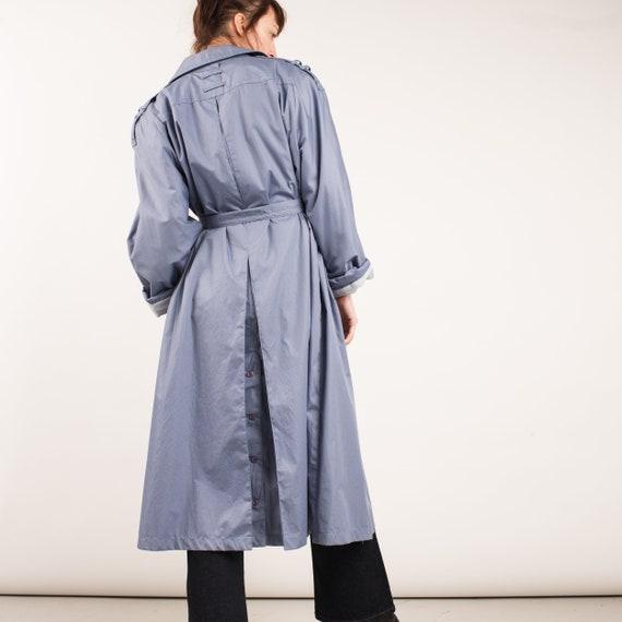 Vintage Lavender Blue Trench Coat / S/M - image 1