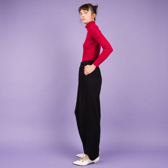 Vintage Charcoal Knit Pants  / M/L - image 2
