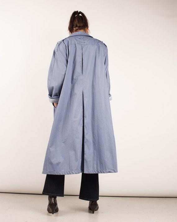Vintage Lavender Blue Trench Coat / S/M - image 5