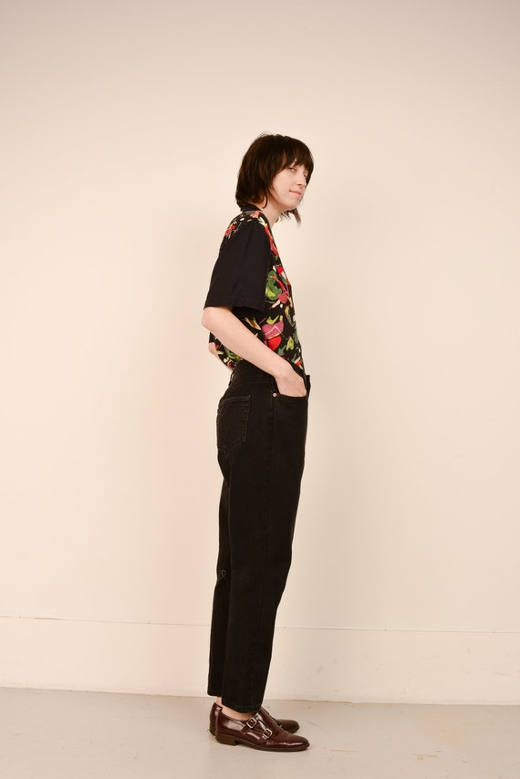 Vintage Black Relaxed FADED GLORY Denim Pants  / … - image 4