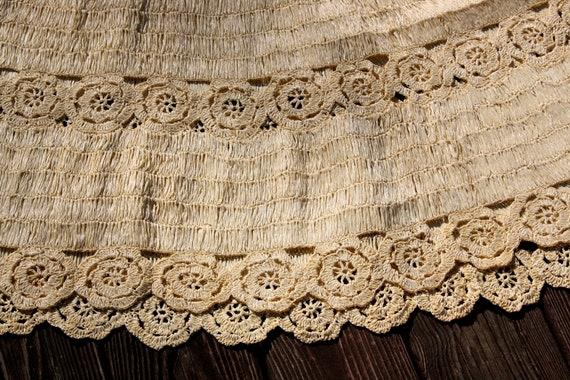 1950's Raffia Skirt Vintage Woven Handmade Flared