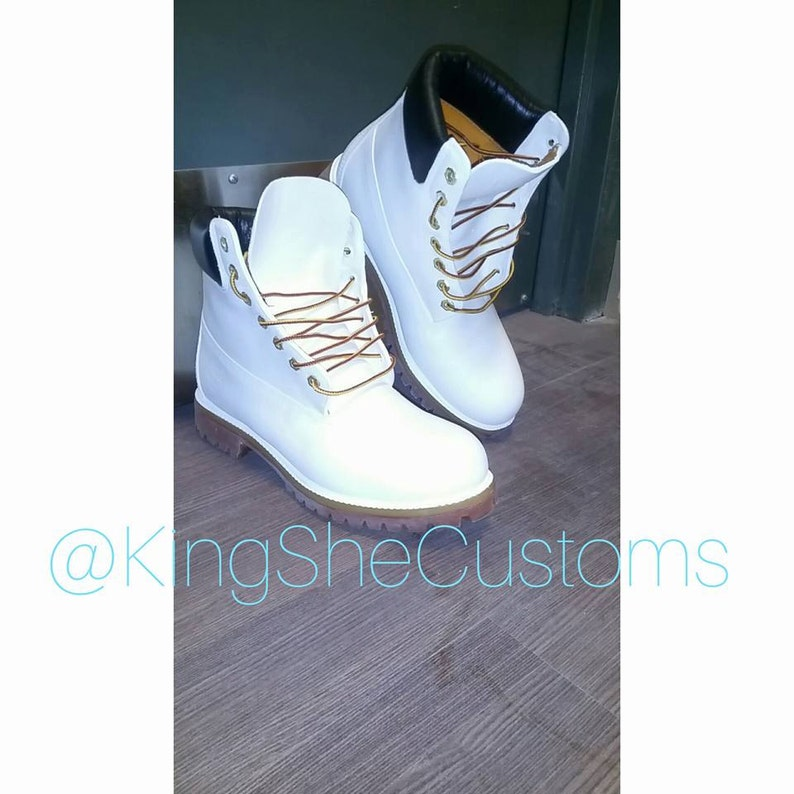 White Timberland Construction Boot image 1