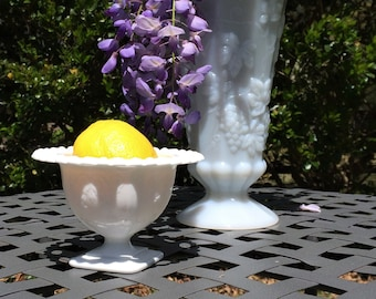 Milk glass Compote, candy