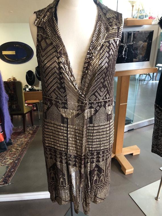 Assuit Silver Vintage embroidered vest.