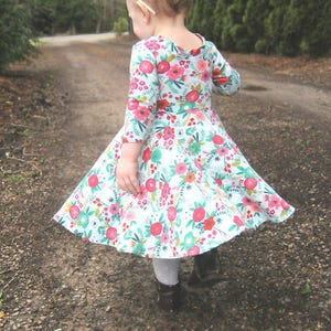 Baby Dress Purple Floral Dress Baby Girl Gift Baby Girl Outfit Twirl Dress Baby Girl Dress Newborn Dress Floral Dress Toddler Dress
