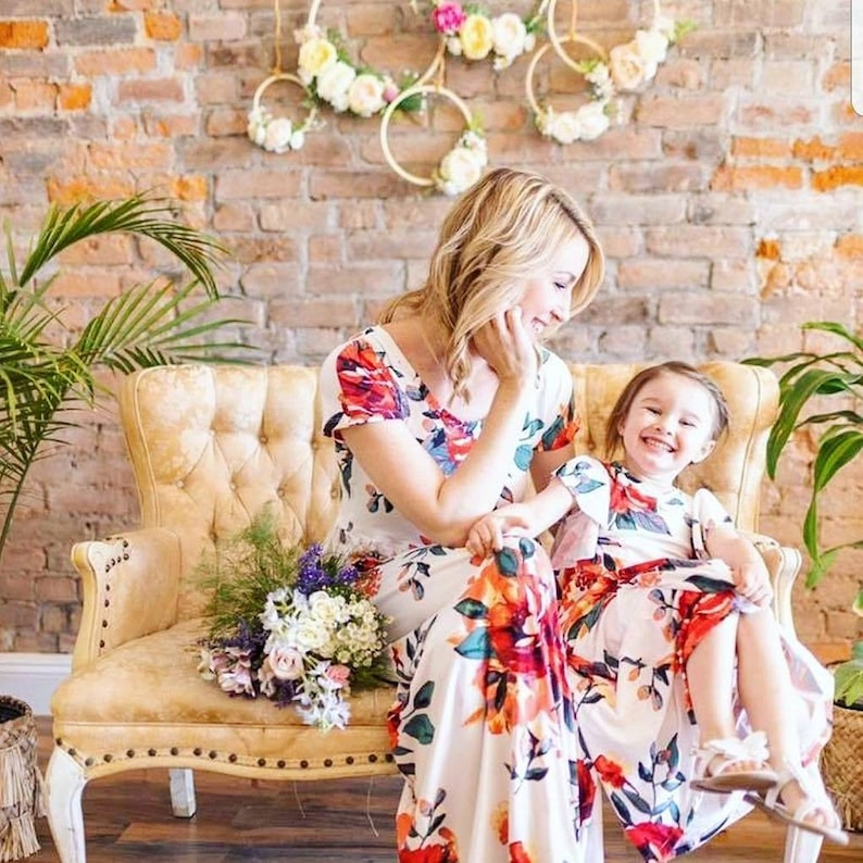 9b47cc609afe9 Mommy and Me Maxi Dresses, Floral Maxi Dress, Mommy and Me Outfits, Floral  Toddler Dress, Mother's Day Gift, Matching Dress, Girl Maxi Dress