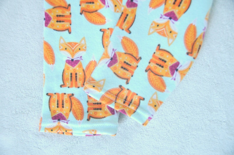 Girls Mint Boys Baby Toddler Woodland Infant Newborn Child Winter Spring NEW Dapper Foxes Leggings Stretchy Soft Cotton Knit
