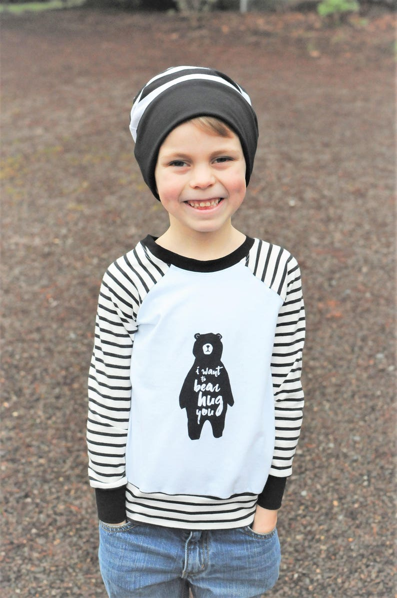 efd1e2b82 Boys Graphic Tee Boys Sweater Bear Hug Outfit Baby Boy | Etsy