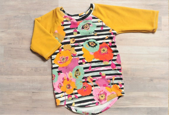 Fall Florals Toddler//Girls Tunic