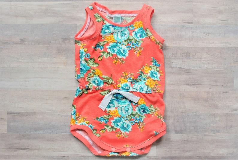 c810f6546f5 Baby Romper Baby Girl Romper Floral Romper Coral Romper