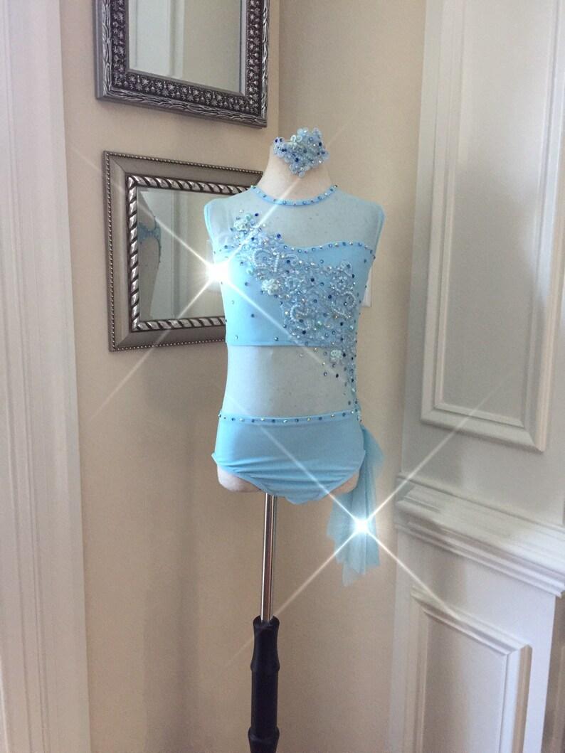 e8dce1c1cf1e 2 Piece Custom Lyrical Dance Costumelight blue with | Etsy