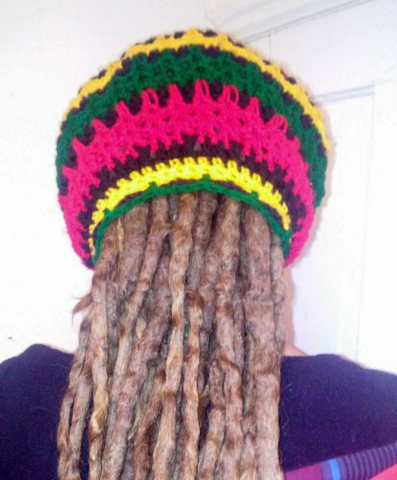 Rasta Dread Tube Hat Crochet Pattern Dreadlock Hat Rasta  968c48f2af3