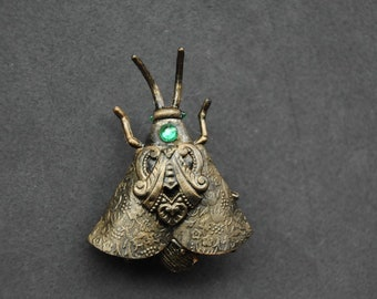 Steampunk Clockwork Insect Brooche
