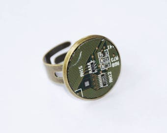 Recycled Circuit Board Finger Ring