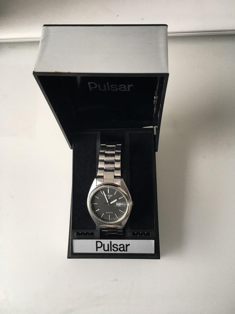 013c6223e Vintage Pulsar Seiko Analog Day Date Watch Y148-7019 | Etsy